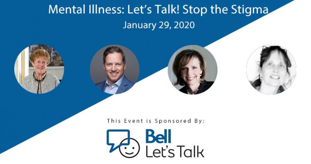 Join us on January 29th, 2020 at the Royal Ottawa Mental Health Centre for an event of exploration into mental illness and the stigma associated. We will hear from four distinguished guest speakers and light refreshments will be provided.