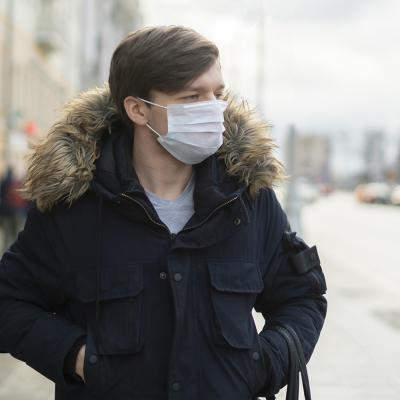 Man wearing health mask