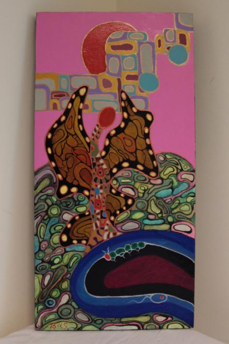 'Rosy Dawn Butterfly Fantasy' by Stephen Basil Quinlan | $200